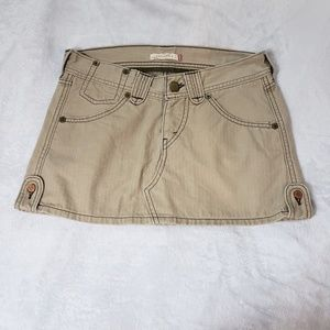 Levi's Tan Mini Skirt w/ Pockets & Button Fly